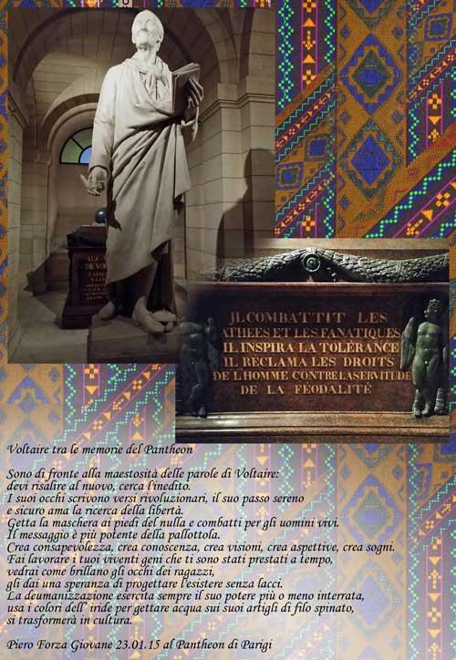 Voltaire tra le memorie del Pantheon